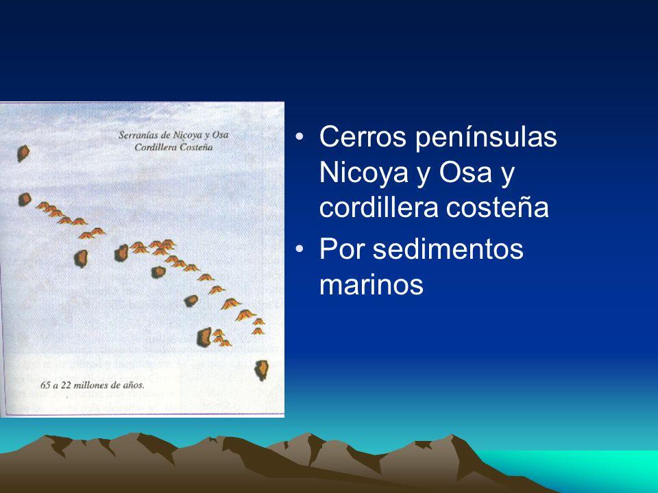 Cerros penínsulas Nicoya y Osa y cordillera costeña