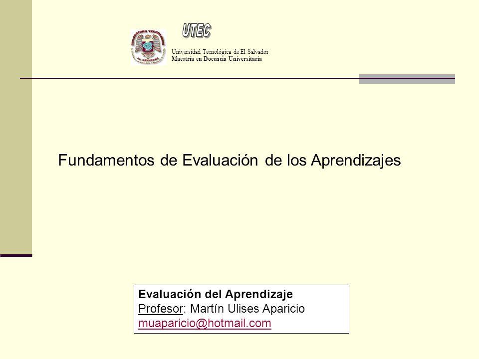UTEC Fundamentos de Evaluación de los Aprendizajes
