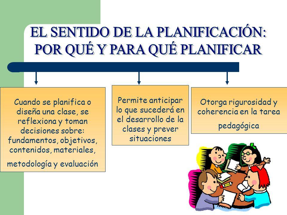 EL SENTIDO DE LA PLANIFICACIÓN: POR QUÉ Y PARA QUÉ PLANIFICAR
