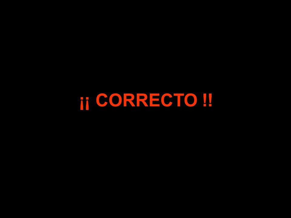 ¡¡ ERROR !! ¡¡ CORRECTO !!