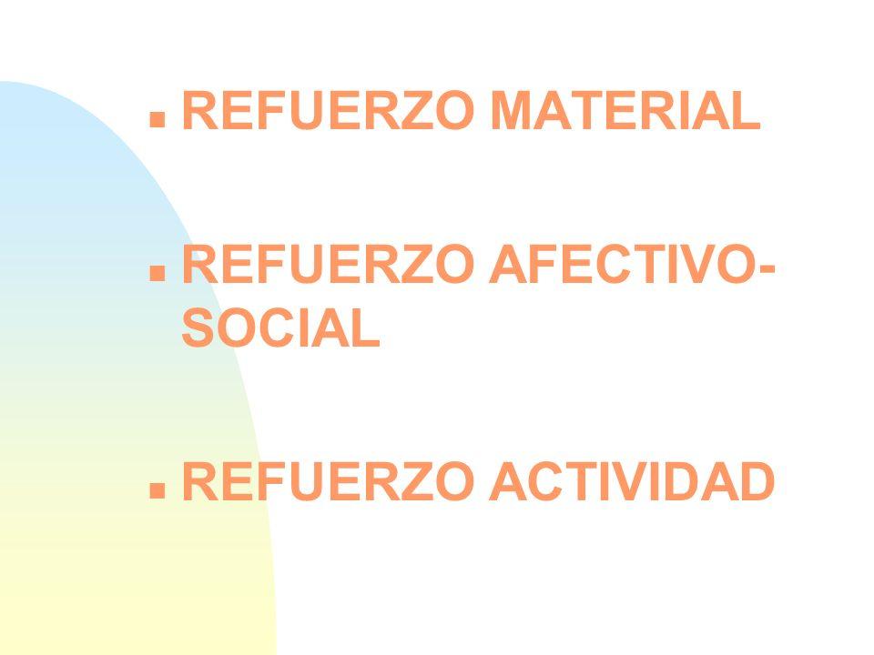 REFUERZO AFECTIVO-SOCIAL