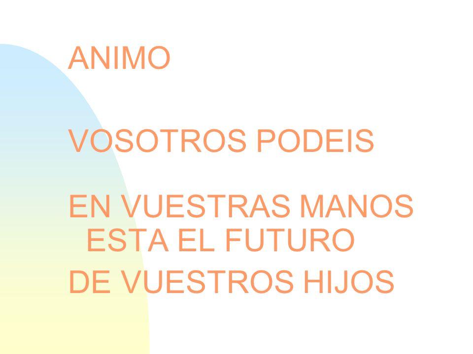 EN VUESTRAS MANOS ESTA EL FUTURO DE VUESTROS HIJOS
