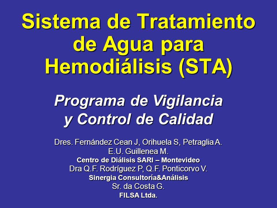 Sistema de Tratamiento de Agua para Hemodiálisis (STA)