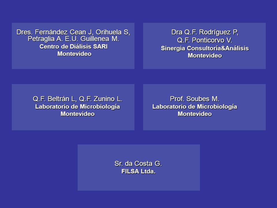 Dres. Fernández Cean J, Orihuela S, Petraglia A. E.U. Guillenea M.