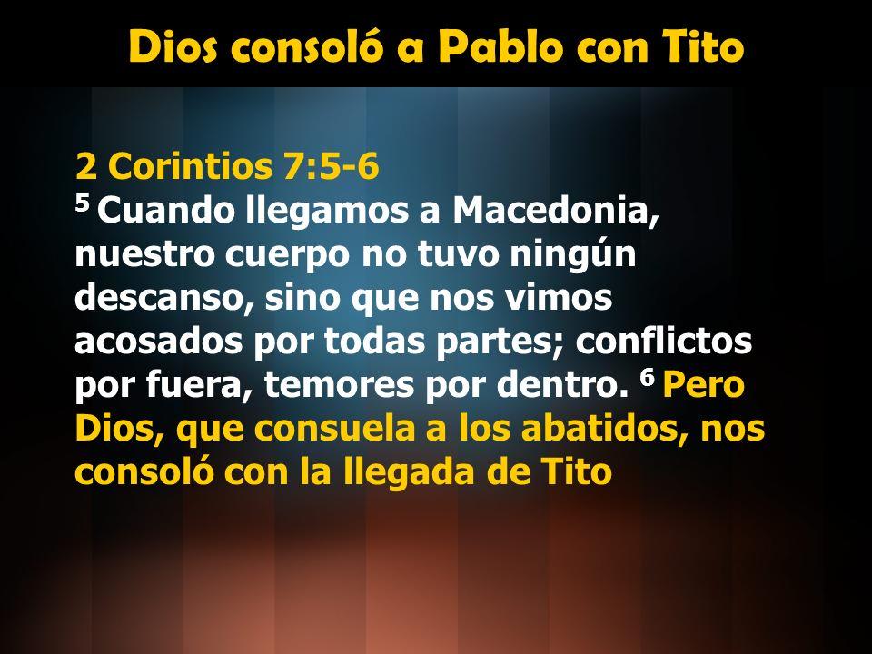 Dios consoló a Pablo con Tito