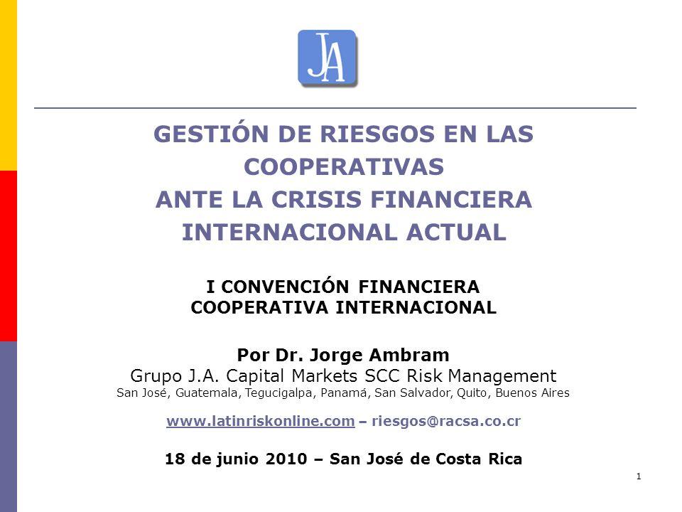 GESTIÓN DE RIESGOS EN LAS COOPERATIVAS