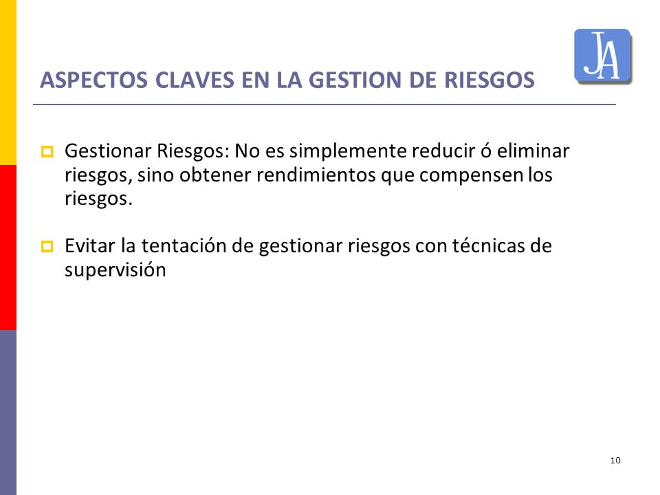 ASPECTOS CLAVES EN LA GESTION DE RIESGOS
