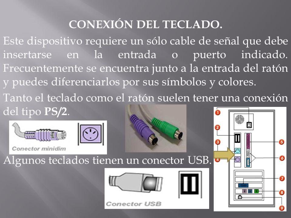 CONEXIÓN DEL TECLADO.
