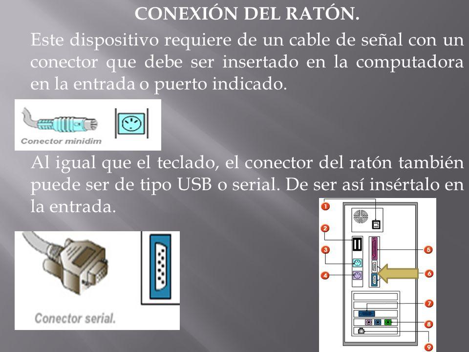 CONEXIÓN DEL RATÓN.