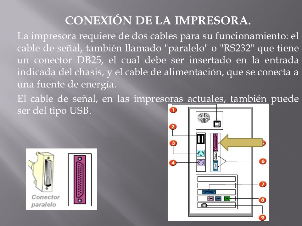 CONEXIÓN DE LA IMPRESORA.
