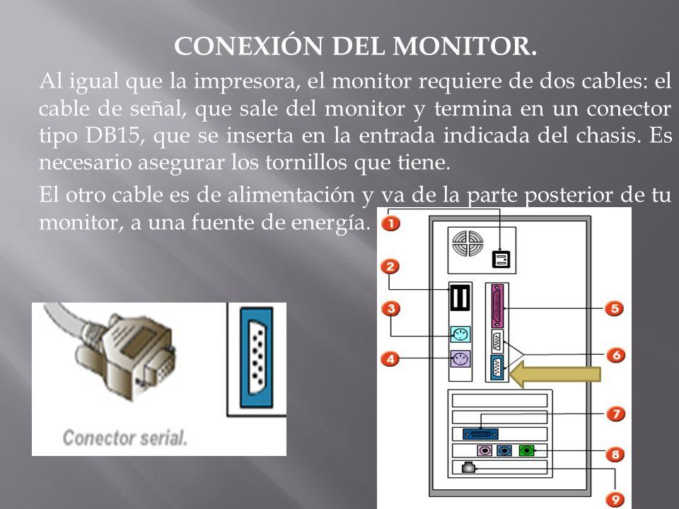 CONEXIÓN DEL MONITOR.