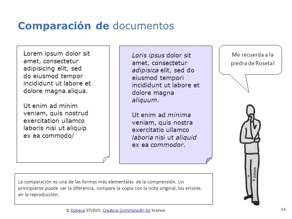 Comparación de documentos