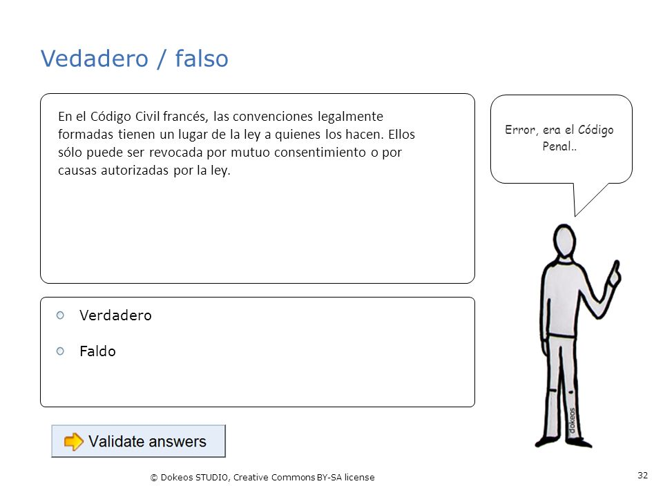 Vedadero / falso