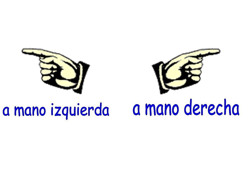 a mano derecha a mano izquierda