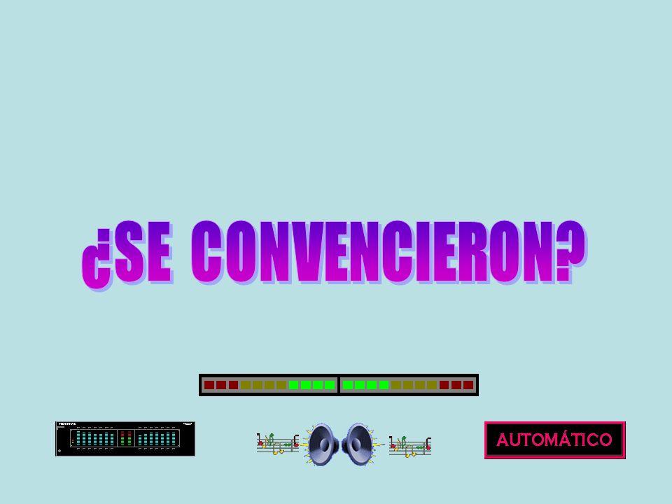 ¿SE CONVENCIERON