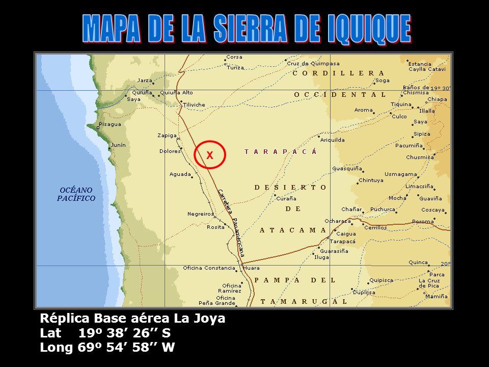 MAPA DE LA SIERRA DE IQUIQUE