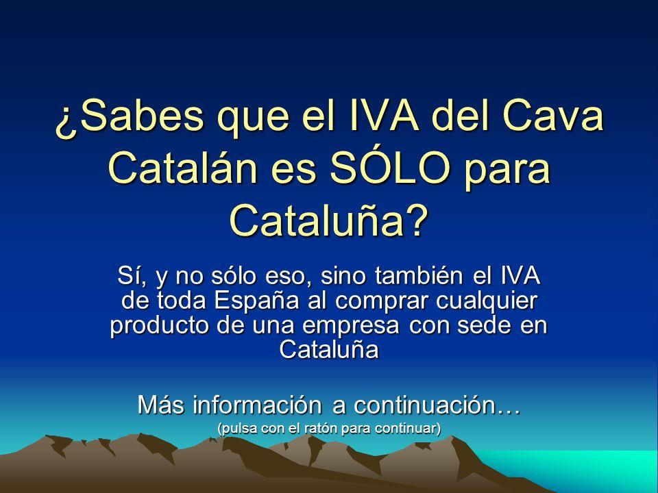 ¿Sabes que el IVA del Cava Catalán es SÓLO para Cataluña