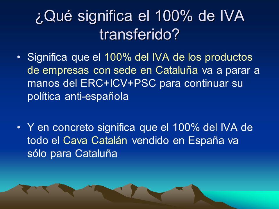 ¿Qué significa el 100% de IVA transferido