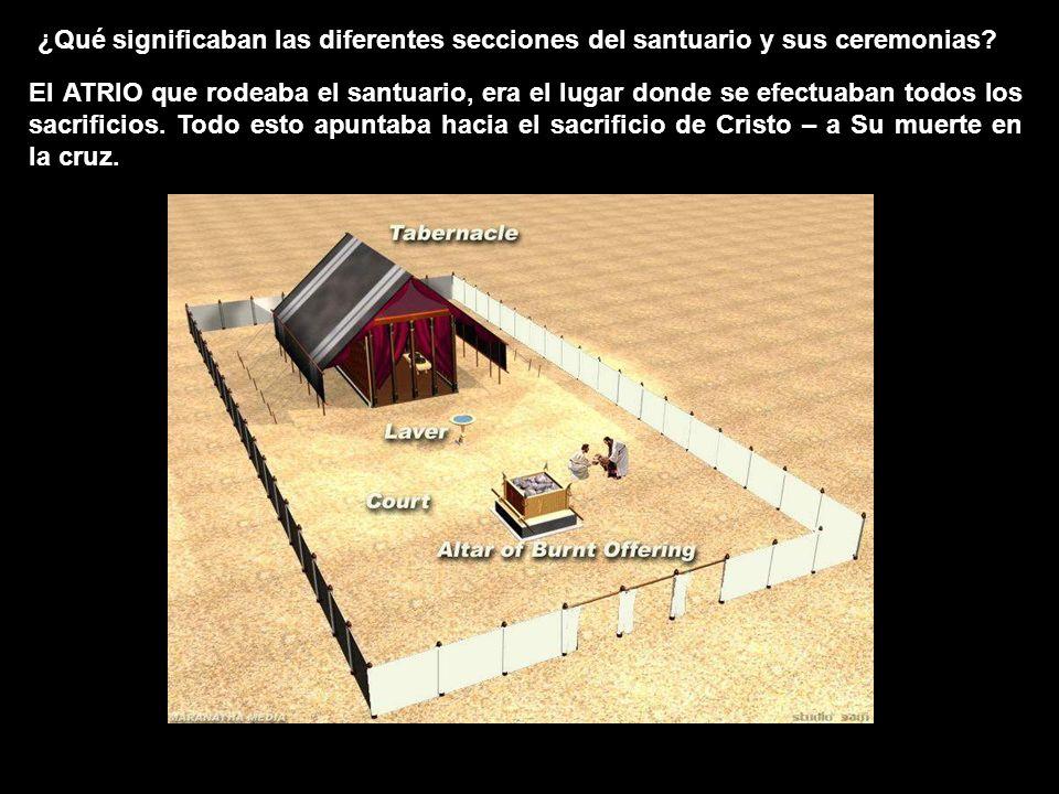 ¿Qué significaban las diferentes secciones del santuario y sus ceremonias