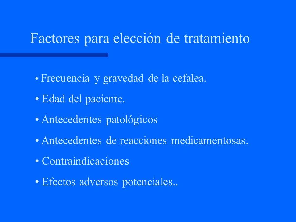 Factores para elección de tratamiento