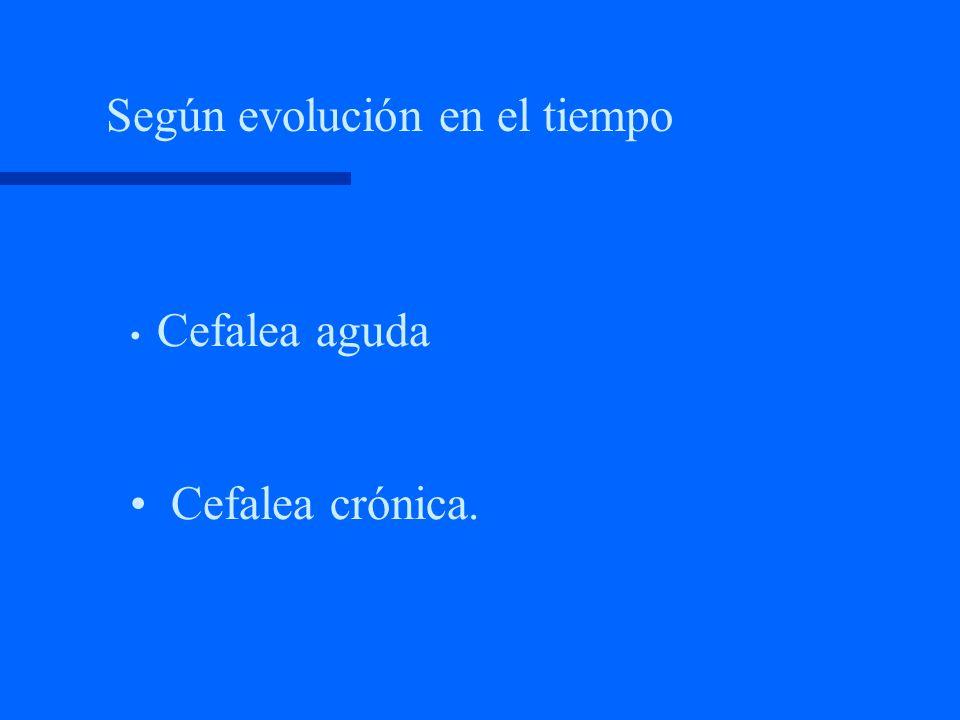 Según evolución en el tiempo