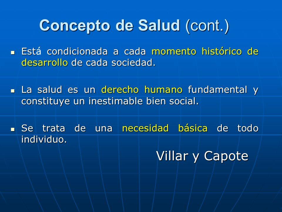 Concepto de Salud (cont.)
