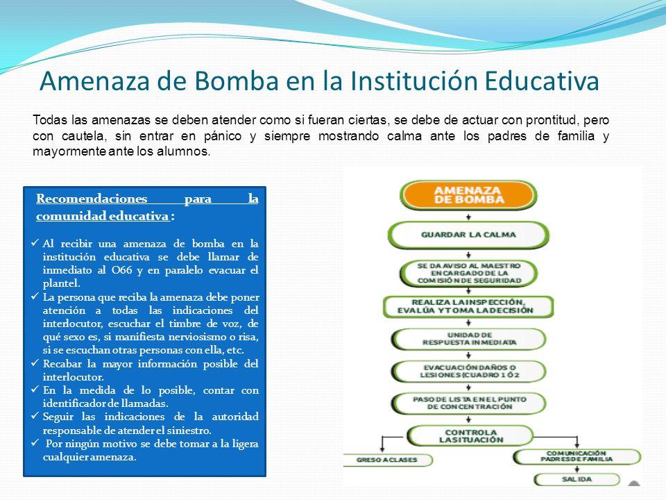 Amenaza de Bomba en la Institución Educativa