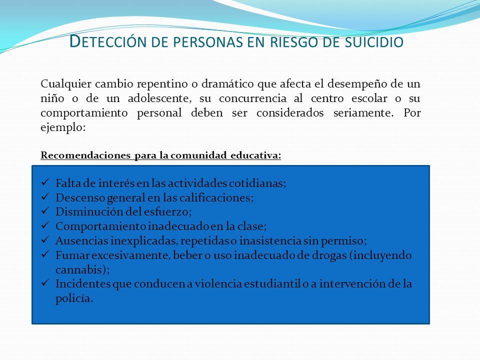 Detección de personas en riesgo de suicidio
