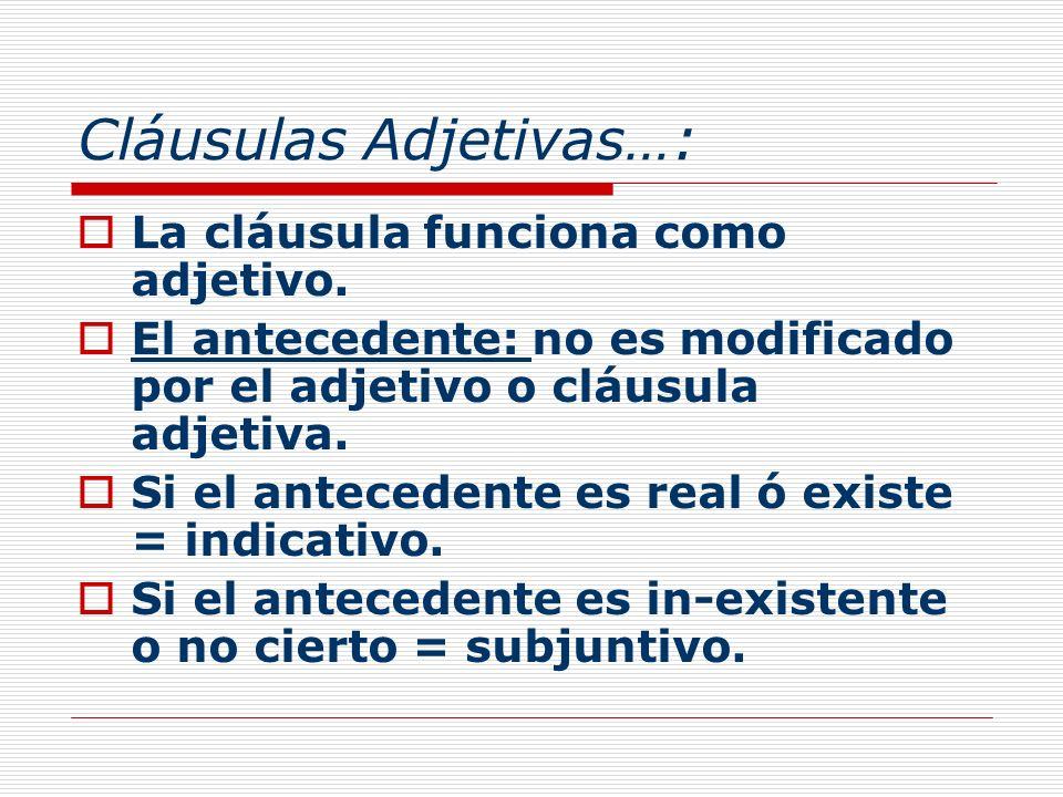 Cláusulas Adjetivas…: