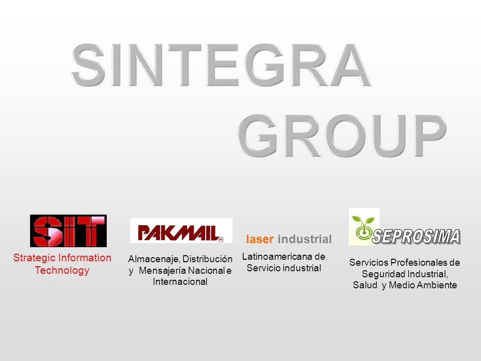 SINTEGRA GROUP SEPROSIMA laser industrial Strategic Information