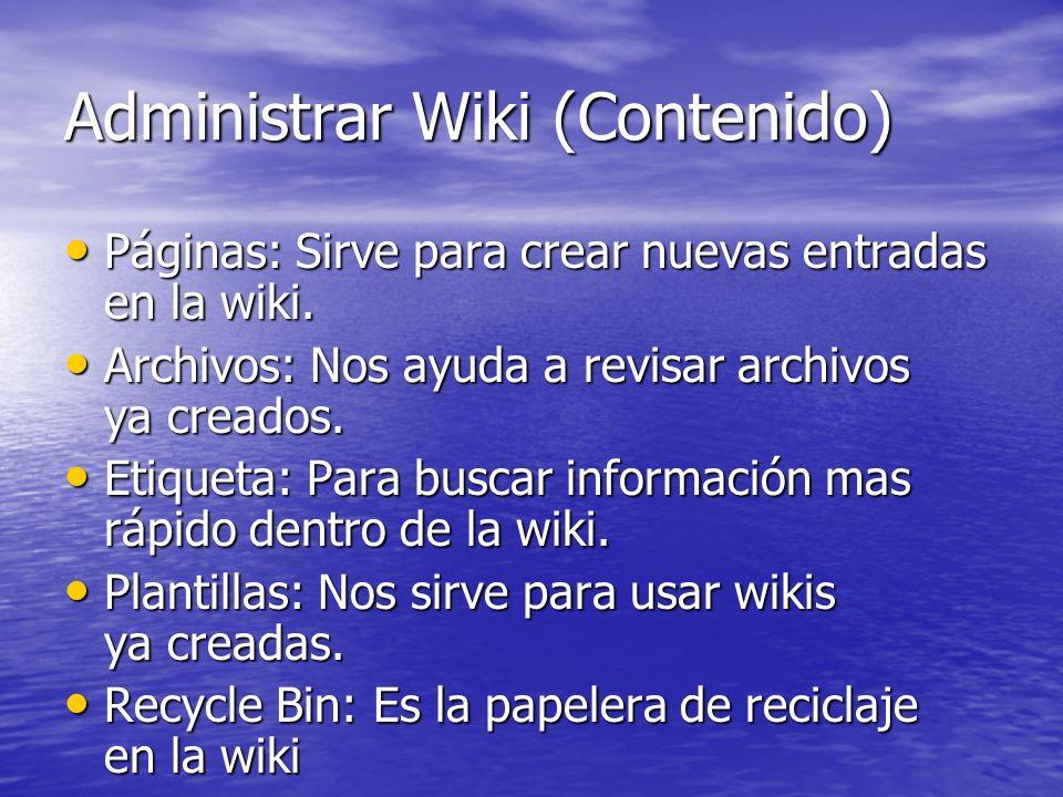 Administrar Wiki (Contenido)