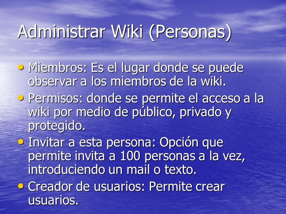 Administrar Wiki (Personas)