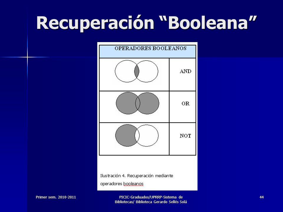 Recuperación Booleana