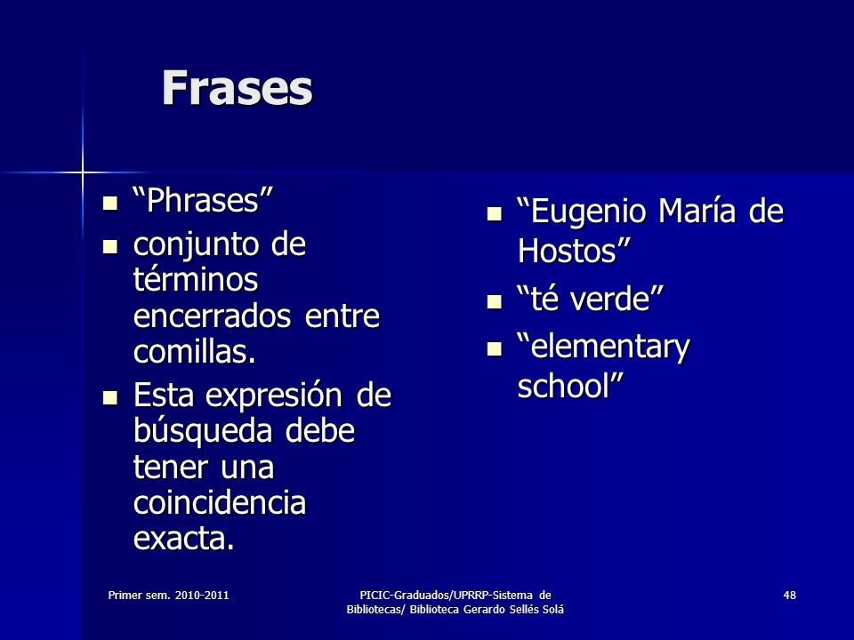 Frases Phrases Eugenio María de Hostos