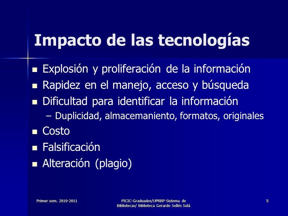 Impacto de las tecnologías