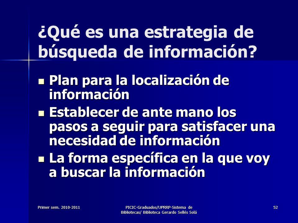 ¿Qué es una estrategia de búsqueda de información