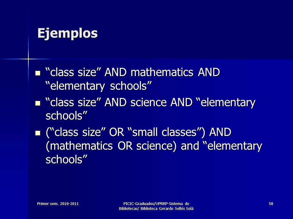 Ejemplos class size AND mathematics AND elementary schools