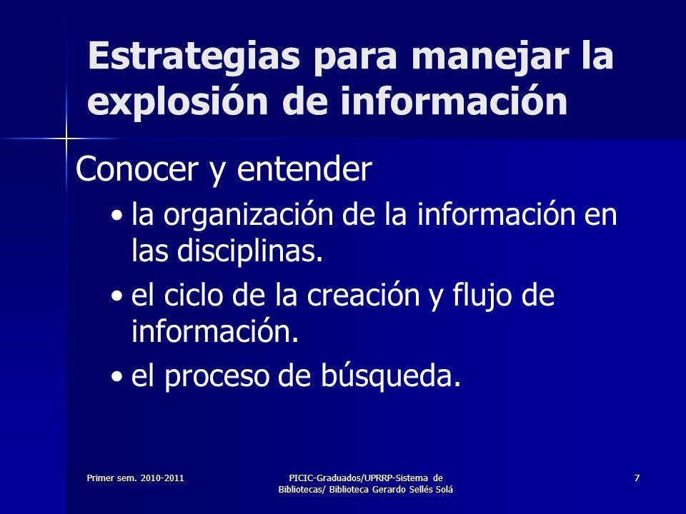 Estrategias para manejar la explosión de información