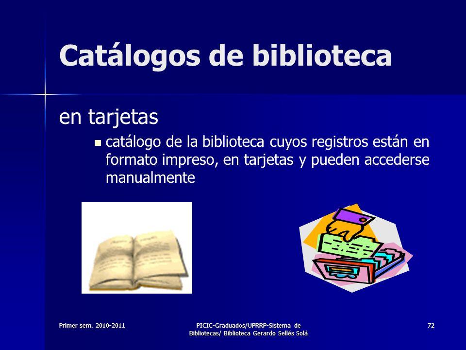 Catálogos de biblioteca