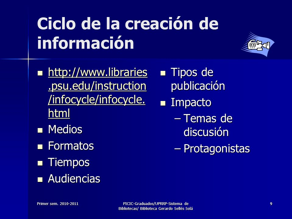 Ciclo de la creación de información