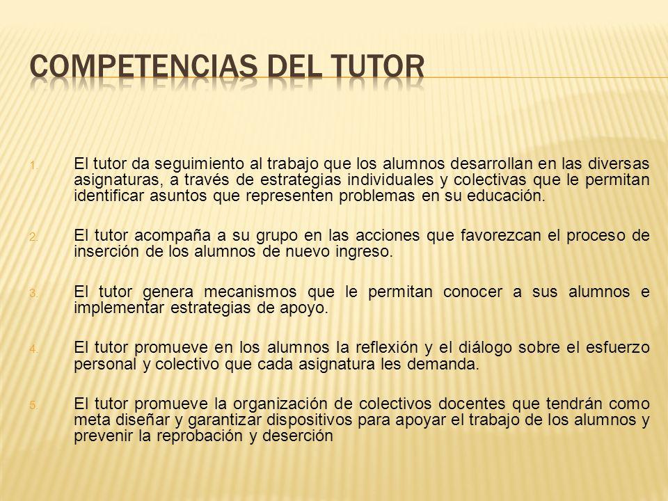COMPETENCIAS DEL TUTOR