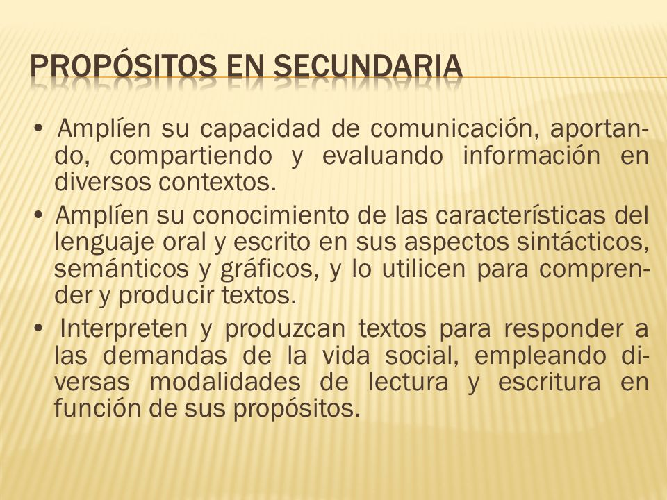 Propósitos en secundaria