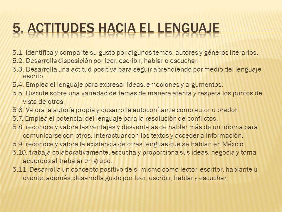 5. actitudes hacia el lenguaje
