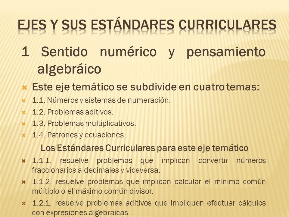 EJES y sus estándares curriculares