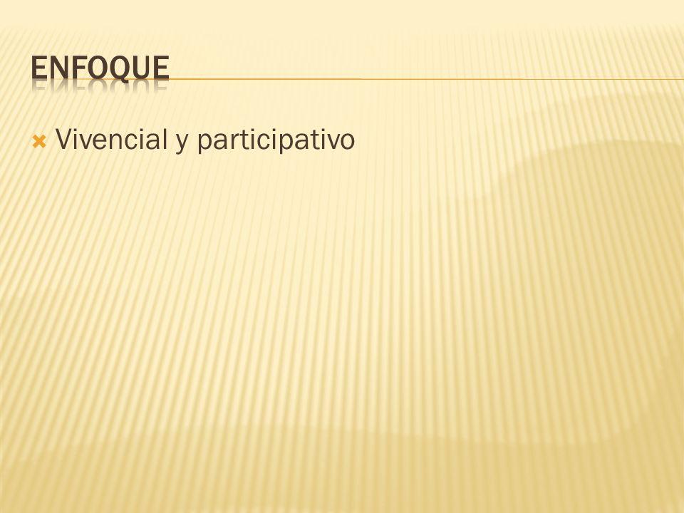 Enfoque Vivencial y participativo