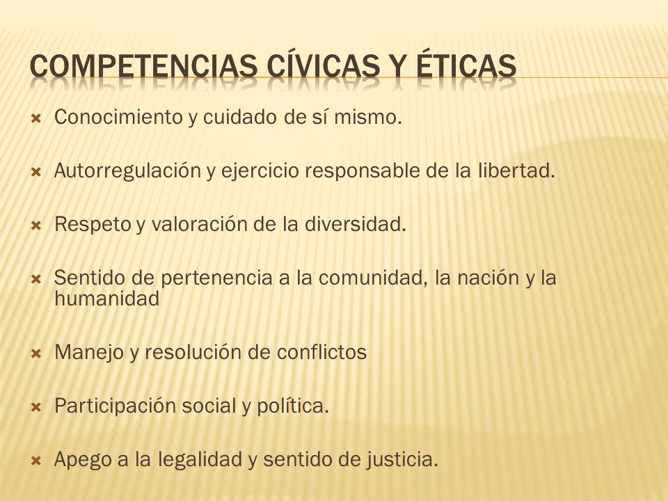 Competencias cívicas y éticas