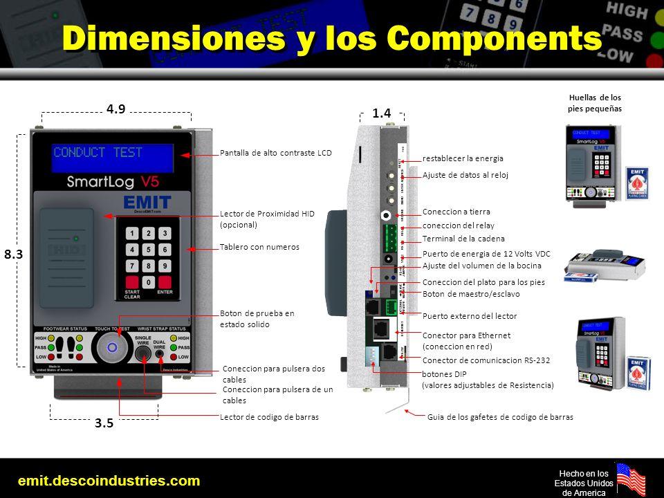 Dimensiones y los Components