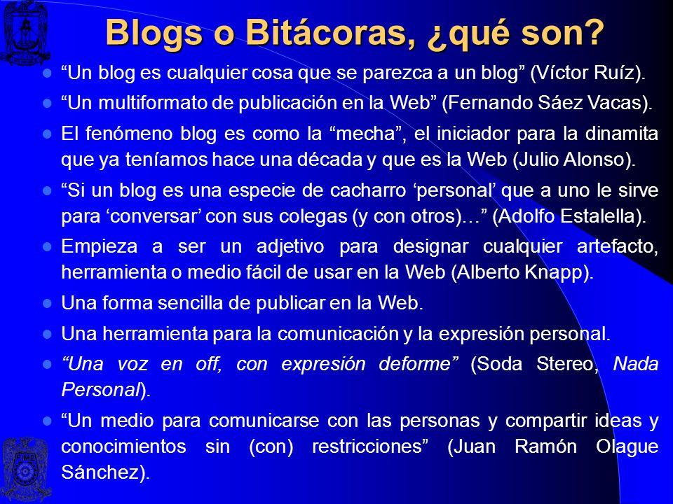 Blogs o Bitácoras, ¿qué son