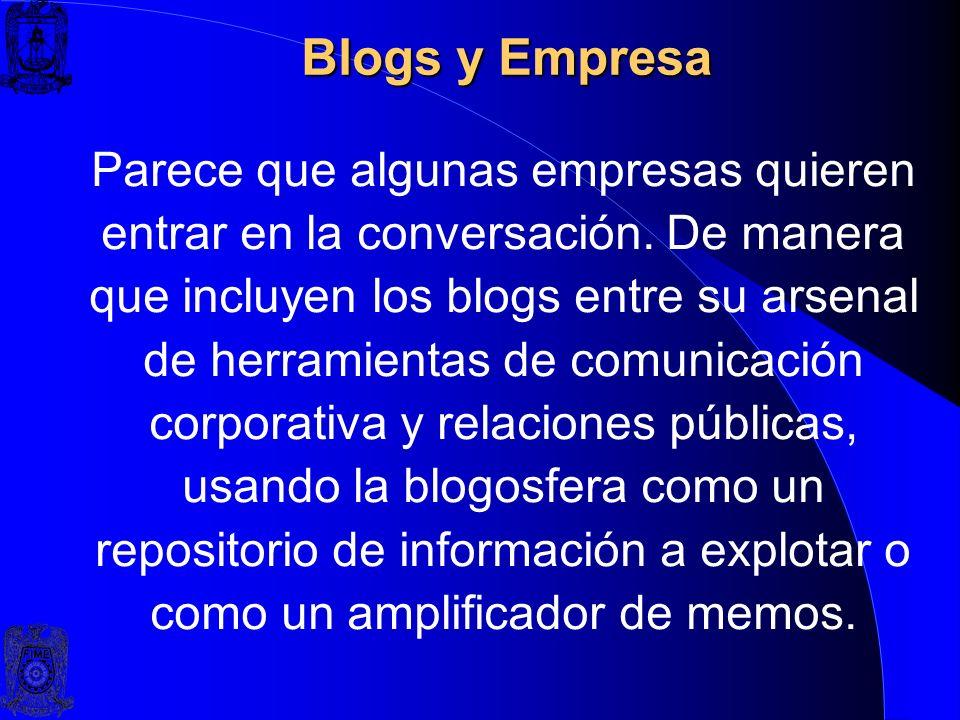 Blogs y Empresa