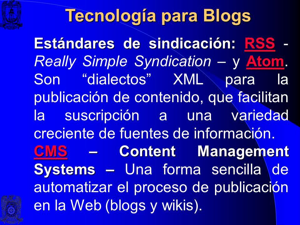Tecnología para Blogs